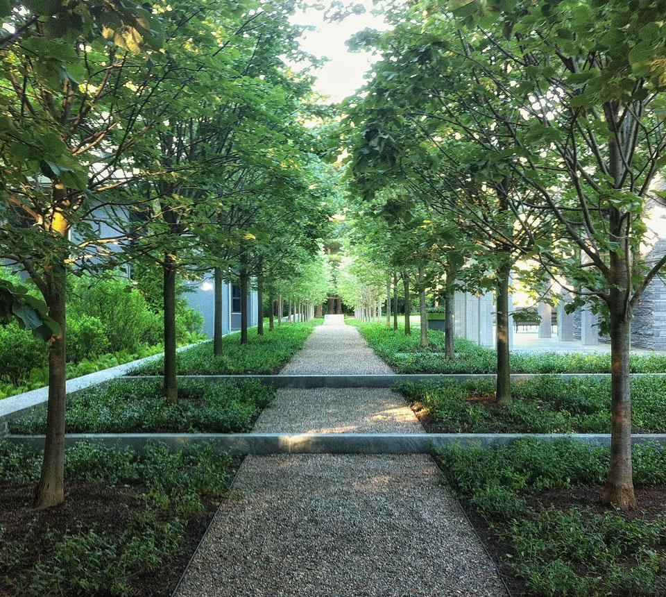 A. Gilson Landscapes is a Boston based landscape design firm.